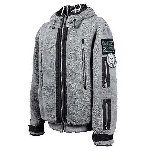 [Nedal TF141 Hoodie Ghost Tactical Zipper Sweater Military Costume Jacket XS] (Tf141 Costume)