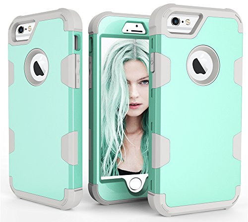 GreenElec Compatible Hybrid Hard PC + Soft Silicone Dual Layer Phone Case High Impact Shock-Absorbing Scratch-Proof Replacement for Apple iPhone 6 Plus / iPhone 6s Plus