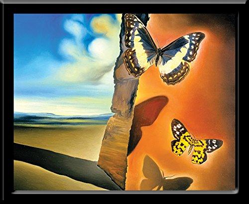 Culturenik Salvador DALI-PAPPILLON (Surrealist Painting Art) (8 x 10 Framed Print)