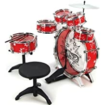 11pc Kids Boy Girl Drum Set Musical Instrument Toy Playset RED