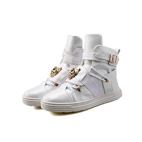 Ligeras Botas de moda para hombre Zapatillas de deporte de otoño de piel sintética Otoño invierno