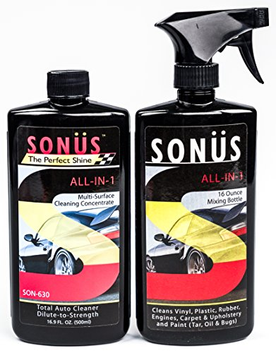 Sonus ALL-IN-1 Water-Activated Cleaning 30:1 Concentrate Total Auto Cleaner for Auto, Truck, RV, 16 fl. oz.