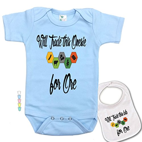 Will Trade This Onesie for Ore -Cute Settlers of Catan Baby Bodysuit & bib