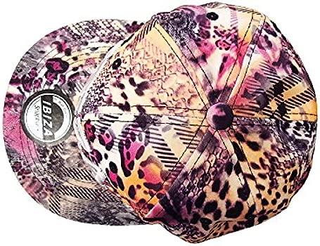 Love Ibiza: Estampado de Leopardo Gorra Snapback - Morado, Talla ...