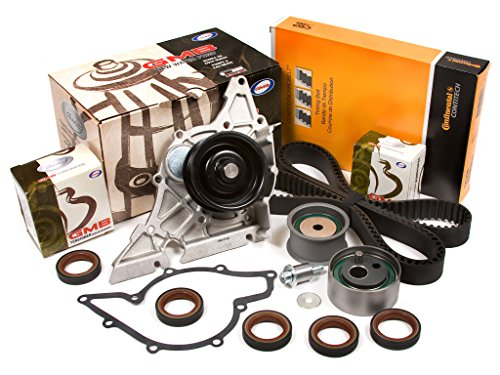 Audi A6 Pump Water - Evergreen TBK297CWP 98-05 Audi A4 A6 Volkswagen Passat V6 2.8L DOHC Timing Belt Kit GMB Water Pump