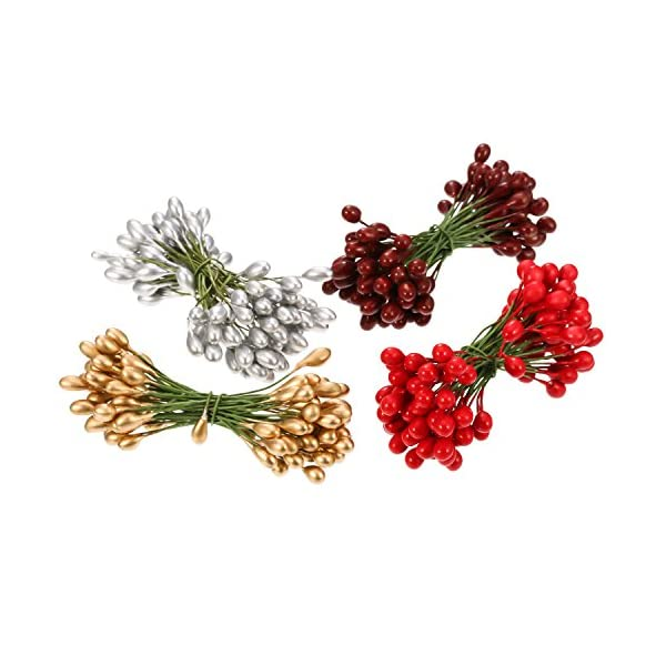 BBTO-400-Pieces-Multicolor-Artificial-Holly-Berries-Christmas-Fake-Fruit-Berries-on-200-Pieces-Wire-Stems-Christmas-Tree-Decorations-Wreath-Craft-Use-Wedding-Party-Favor