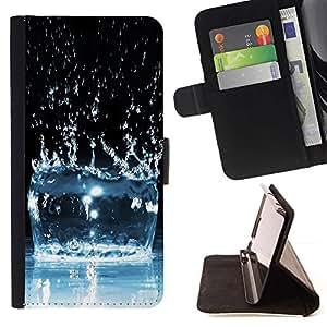 Momo Phone Case / Flip Funda de Cuero Case Cover - Agua Efecto Splash - Sony Xperia Z1 L39