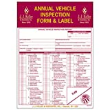 J.J. Keller - Annual Vehicle Inspection Report and Label, pack of 50
