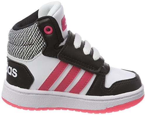 adidas Unisex Baby Vs Hoops Mid 2.0 I Gymnastikschuhe Schwarz (Core Black/real Pink S18/ftwr White)