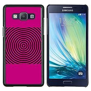 Jordan Colourful Shop - PINK SOUND WAVES MUSIC DISC VINYL For Samsung Galaxy A5 A5000 A5009 - < Personalizado negro cubierta de la caja de pl????stico > -