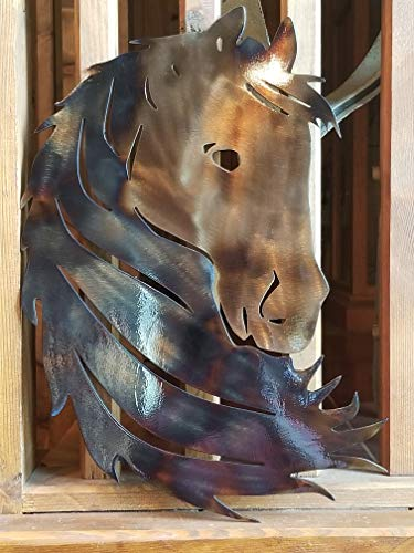 Horse Silhouette / 12w x 18h / quality metal art / 14 ga steel by Pine Creek Boutique