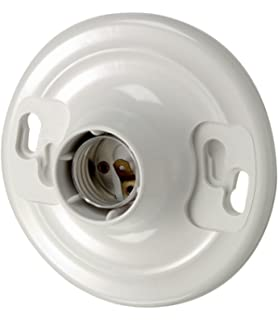Leviton 8829 CW1 One Piece Urea Outlet Box Mount, Incandescent Lampholder,  White
