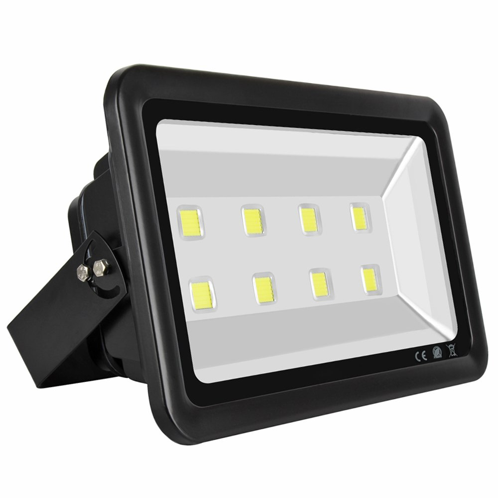 LAPUTA Super Bright 400W Led Floodlight Fixture High Power Indoor and Outdoor Cool White Floodlight,40000lm,Wide Beam Angle Square Lighting,85-265V
