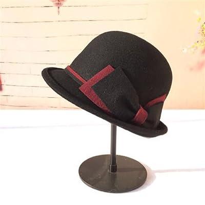 Automne Et Hiver Femme élégante Mode Rétro chapeau belle Bowknot Windproof garder chaude Chapeaux ( couleur : # 4 )