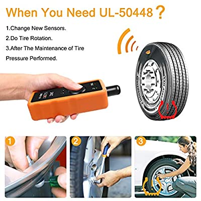 VXDAS 2IN1 TPMS Relearn Tool Super UL-50448 Compatible for GM and Ford Vehicle Automotive Tire Pressure Monitor Sensor Reset Activation Tool: Automotive