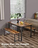 MIERES 3-Piece Dining 2 Modern Kitchen Metal Frame
