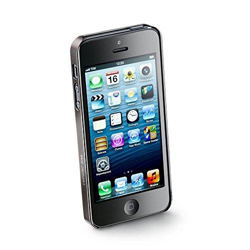 CELLULAR lINE étui metallrändern jack est en imitation cuir pour apple iPhone 5/5S marron