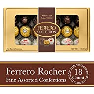 Ferrero Rocher Fine Hazelnut Milk Chocolates, 18 Count, Assorted Coconut Candy and Chocolate Collection Gift Box, Perfect Easter Egg and Basket Stuffers, 6.8 oz