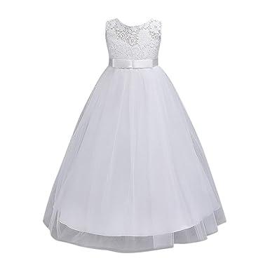 65cb0f7b589f5 Amlaiworld ❤️Robe de Filles Fille d enfants Fleur Robe Princesse Robe de  Mariée Formelle