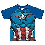 Camiseta Praia Manga Curta Avengers, TipTop, Azul, 2