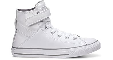 00fc213c365 Converse Junior Chuck Taylor All Star Hi Leather White 654241C Junior 6 US
