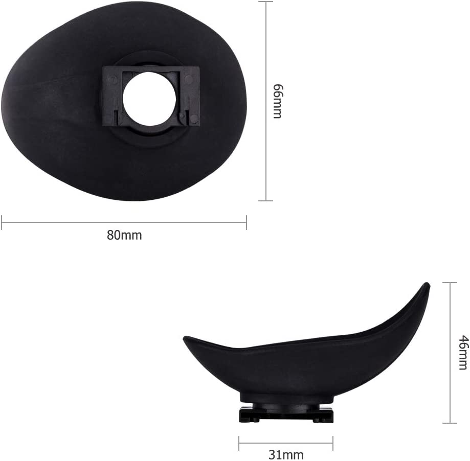 JJC Large Eyecup Eye Cup Eyepiece for Canon EB Ef 6D Mark II 6D 5D Mark II 5D T7 T6 T5 T7i T6s T6i T5i T4i XSi SL2 SL1 90D 50D 40D 60Da 70D 77D 80D,etc Viewfinder Oval Soft TPU Rubber