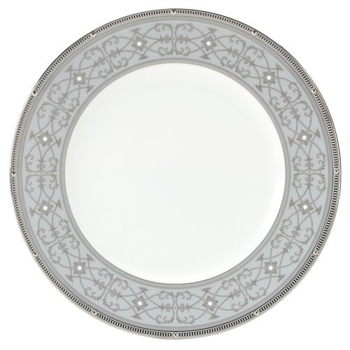 Noritake Rochelle Platinum Accent Plate, 9-inches by Noritake