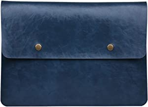 Soyan Retro Leather Laptop Sleeve for 13-Inch MacBook Pro 2012-2015 and 13-Inch MacBook Air 2011-2017, Fits Model A1466/A1502/A1425 (Blue)