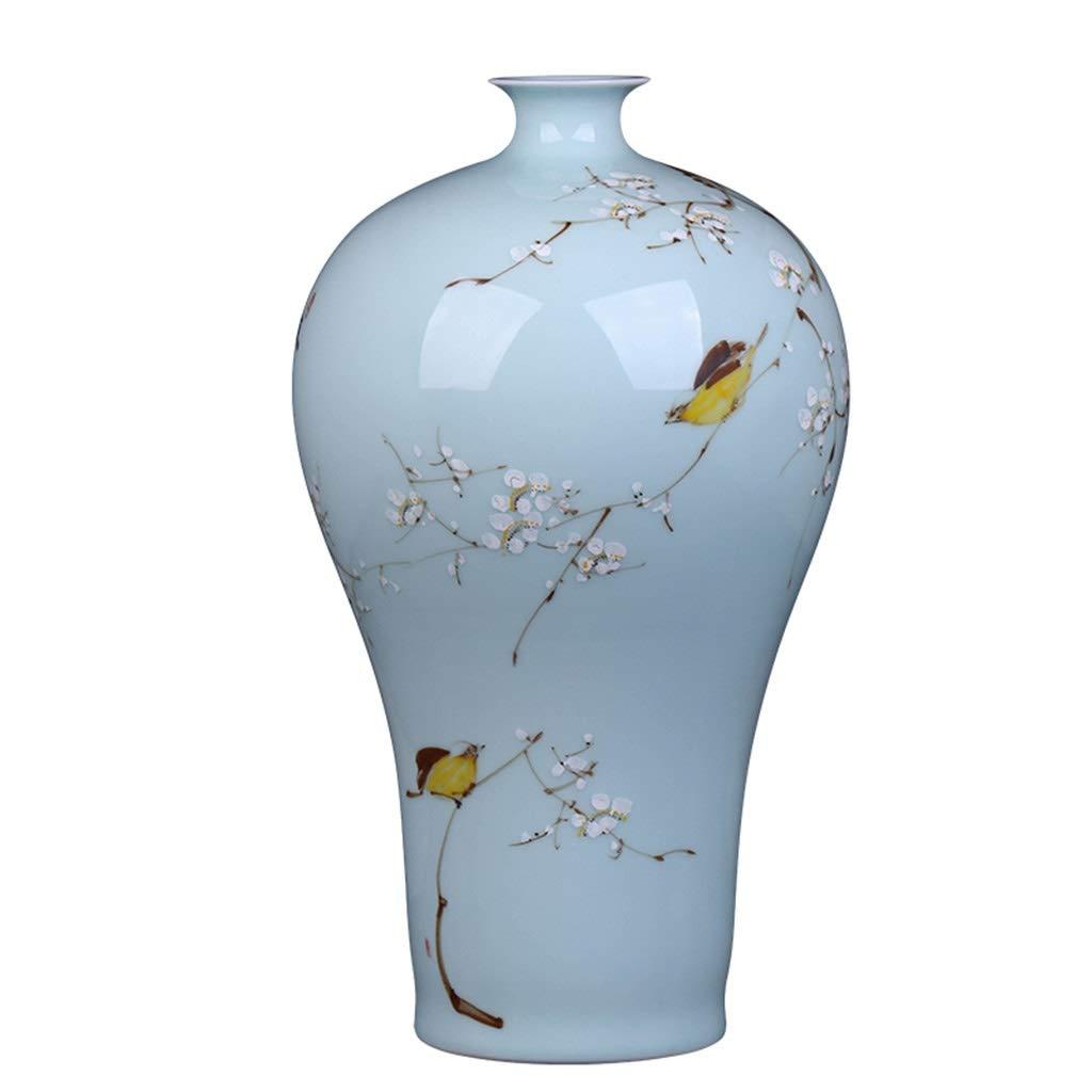 クリエイティブセラミック花瓶の装飾手描きのホームアクセサリーリビングルームの装飾ワインキャビネットの装飾 B07SK1XXYW