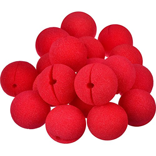 Shappy Red Circus Foam Clown Nose for Halloween Christmas Party Magic Dress, Size of 2 Inch (28 (Red Foam Clown Nose)