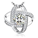"J.Rosée Mother's Day Gift, Necklace 925 Sterling Silver 3A Cubic Zirconia, Fine Jewelry for Women ""Never Ever Be Apart"""