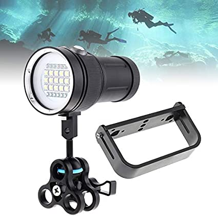 SecurityIng Wide 120 Degrees Beam Angle Scuba Diving Photography Video