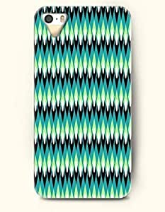 Phone Case For iPhone 5 5S Green Candles In Teal Background - Hard Back Plastic Case / Geometric Pattern / SevenArc ...