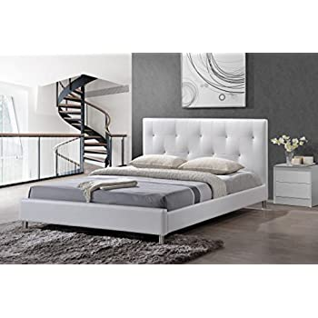 Zinus Tufted Faux Leather Platform Bed With Foot