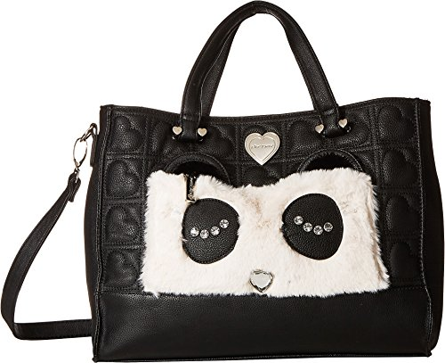 Betsey Johnson Women's Kitsch Tote with Pouch Black/Cream One ()