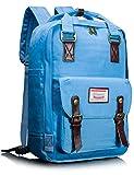 Leaper Multifunctional Waterproof Laptop Backpack School Bag Travel Rucksack Daypack (Sky Blue)