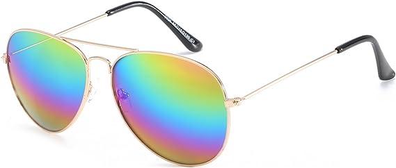 ENSARJOE Classic Aviator Flat Lens Sunglasses For Women And Men Metal Frame