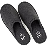 SunnyCode Men's Cotton Indoor Spa House Washable Slippers