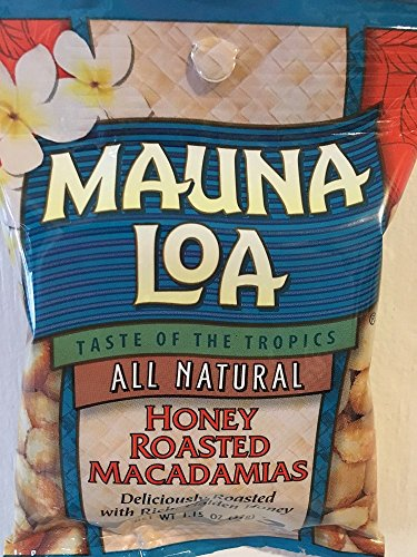 Mauna Loa Honey Roasted Macadamia Nuts Snack Size 1.15oz (Pack of 18)