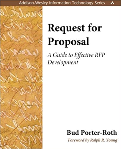 Request for proposal a guide to effective rfp development bud request for proposal a guide to effective rfp development bud porter roth 0785342775754 amazon books fandeluxe