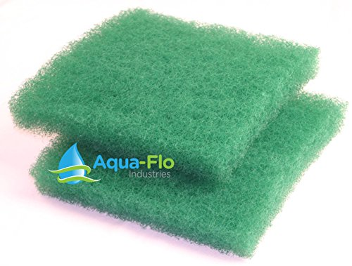 12quotx 12quotx 2quot 2 Pack Green AquaFlo Coarse Bulk Filter Media Roll for Koi Pond Waterfall Filters amp Skimmers