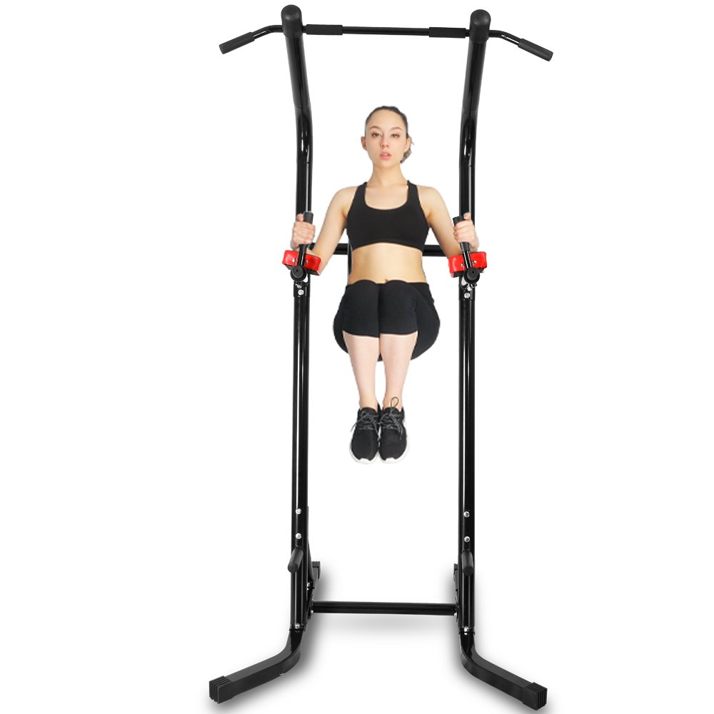 550 lbs Power Tower VKR Pull up Bar Sturdy Chin Up Station Dip Stand Fitness Equipment with Multi Exercise Functions (Black) by CRYSTAL FIT (Image #4)