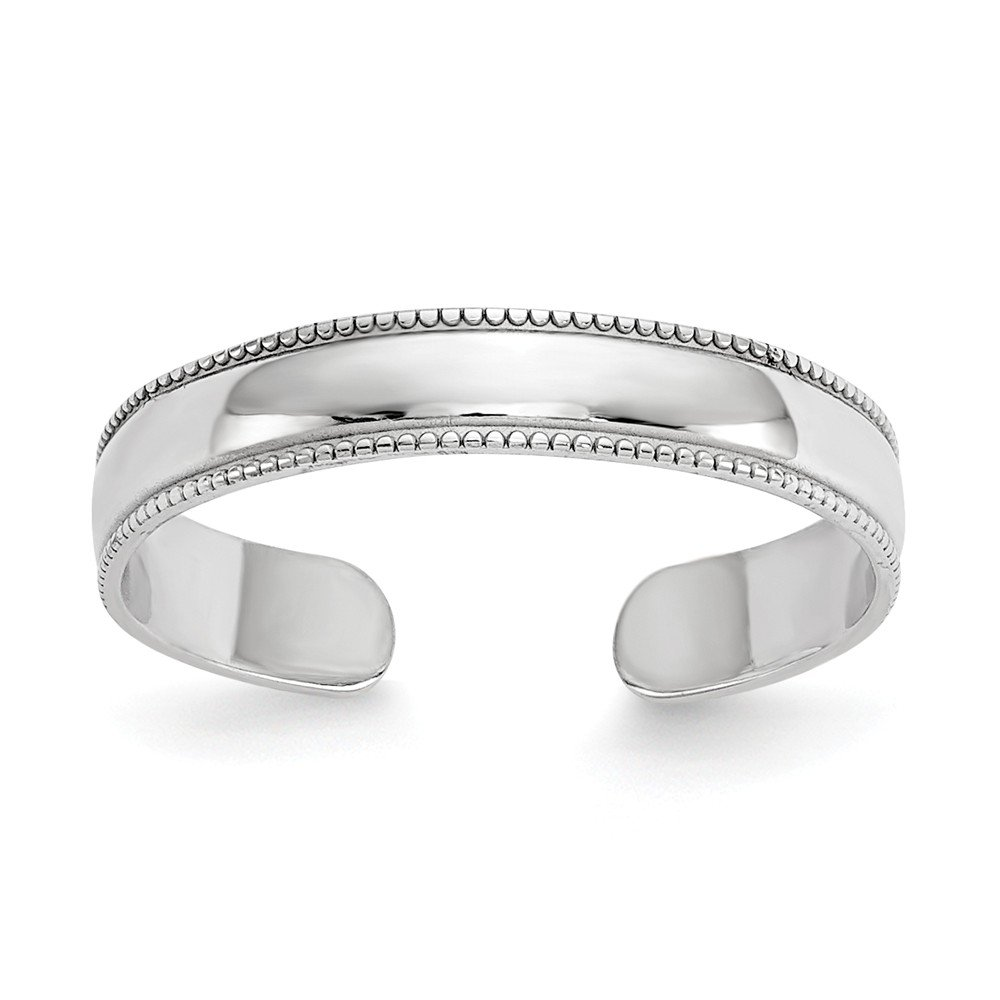 Jewels By Lux 14k White Gold Polished Toe Ring