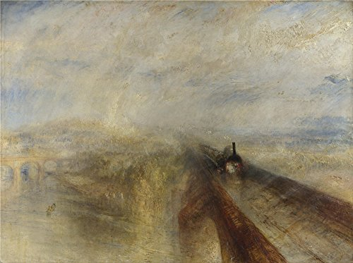 Oil Painting 'Joseph Mallord William Turner Rain Steam And Speed The Great Western Railway ' Printing On Polyster Canvas , 18 X 24 Inch / 46 X 61 Cm ,the Best Living Room Decoration And Home Decoration And Gifts Is This Cheap But High Quality Art Decorative Art Decorative Canvas Prints (Star Wars Battlefront Steam compare prices)