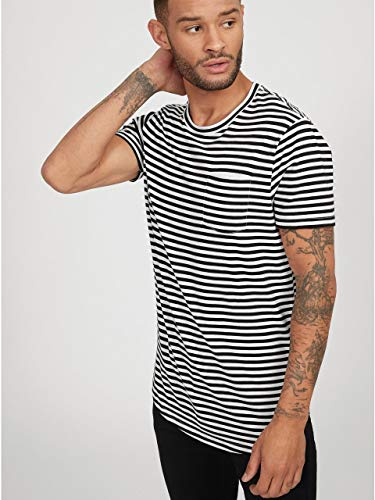 G by GUESS Men's Vantor Striped Front Pocket Tee for sale  Delivered anywhere in USA