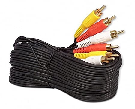 imbaprice® 50 FT RCA M/MX3 - Cable de audio y vídeo RCA chapados en oro Cable de audio/vídeo 50 pies: Amazon.es: Instrumentos musicales