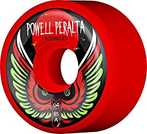 Powell-Peralta Bombers 64mm 85A Red Skateboard Wheels
