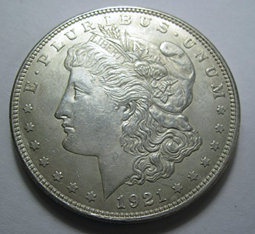 1921 silver Morgan Dollar AU50