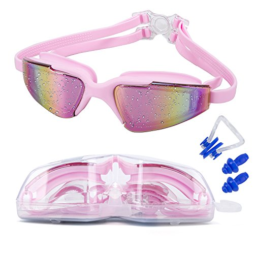 MIGAGA Swim Goggles, Triathlon Glasses ,Anti Fog Cool Design Clear Vision No Leaking UV Protection, Anti-Scratch Swimming Glasses,Free Earplugs And Nose Clip - Eg Goggles 2