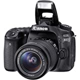 Canon EOS 80D DSLR Camera with Canon EF-S 18-55mm f/3.5-5.6 IS STM Lens + Battery Grip + Wide Angle Lens + 2x Telephoto Lens + 32GB SD Memory Card + New Accessories Bundle